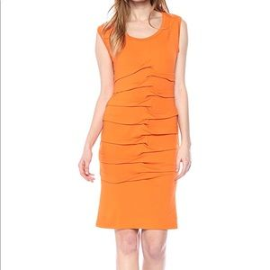 Orange Nicole Miller Mia Jersey Dress